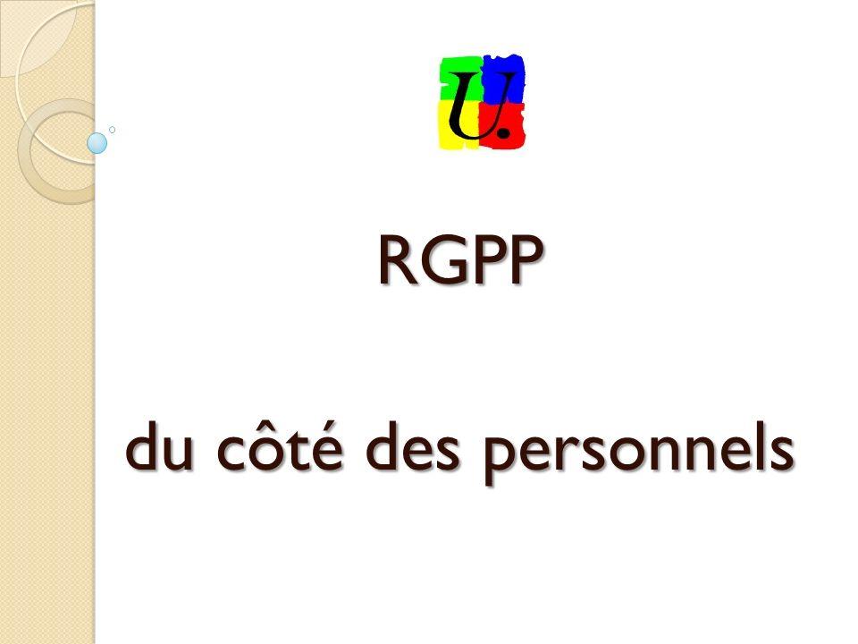 RGPP du côté des personnels