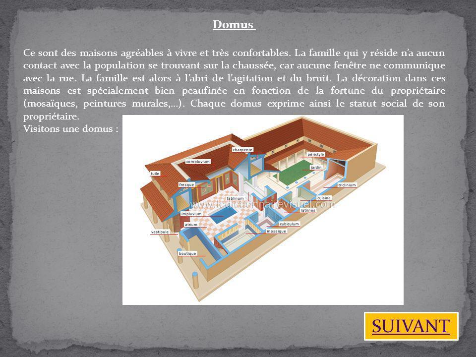 Domus Ce sont des maisons agréables à vivre et très confortables. La famille qui y réside na aucun contact avec la population se trouvant sur la chaus