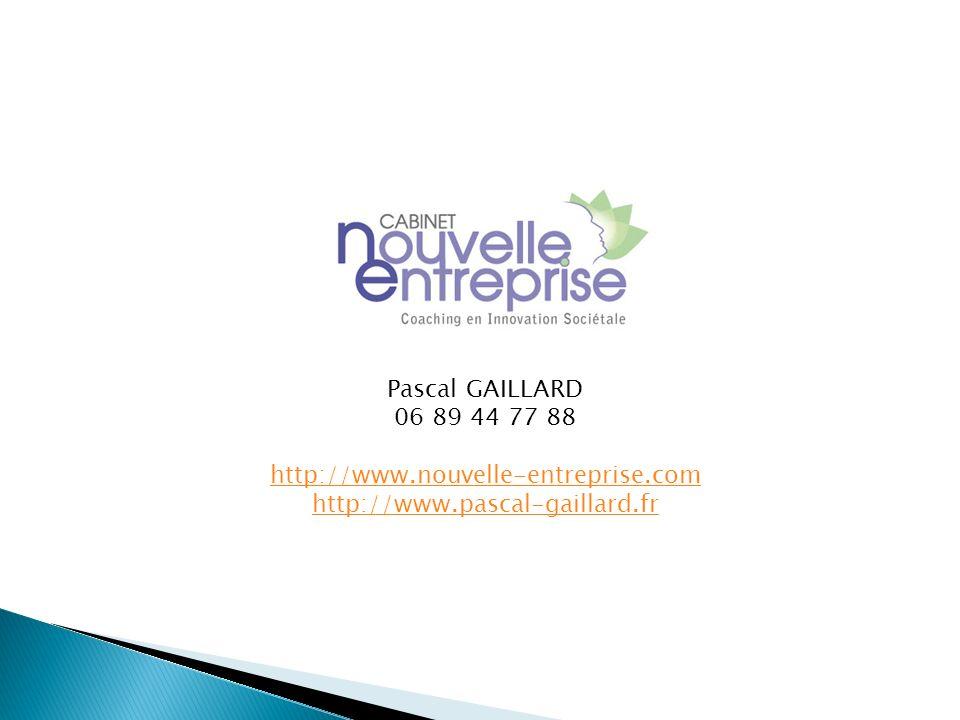 Pascal GAILLARD 06 89 44 77 88 http://www.nouvelle-entreprise.com http://www.pascal-gaillard.fr