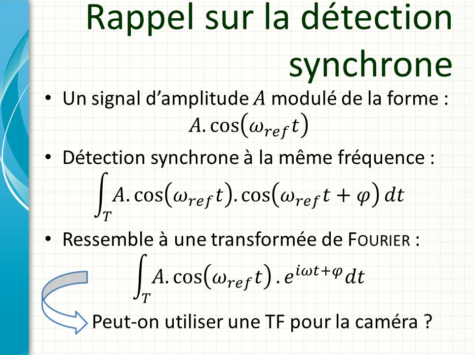 Rappel sur la détection synchrone