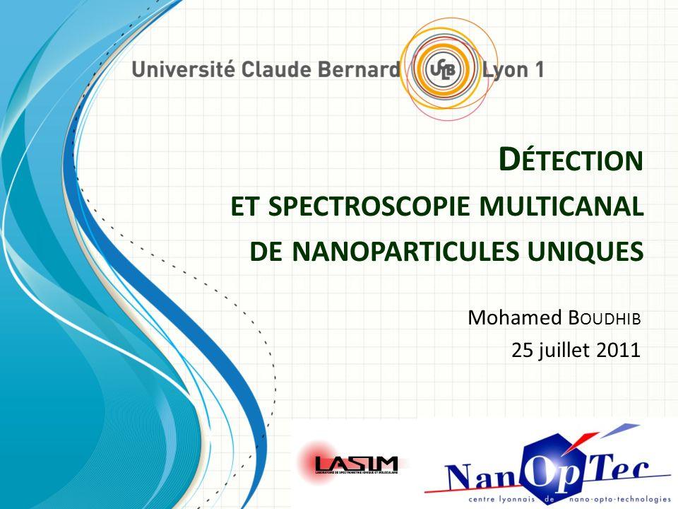 D ÉTECTION ET SPECTROSCOPIE MULTICANAL DE NANOPARTICULES UNIQUES Mohamed B OUDHIB 25 juillet 2011