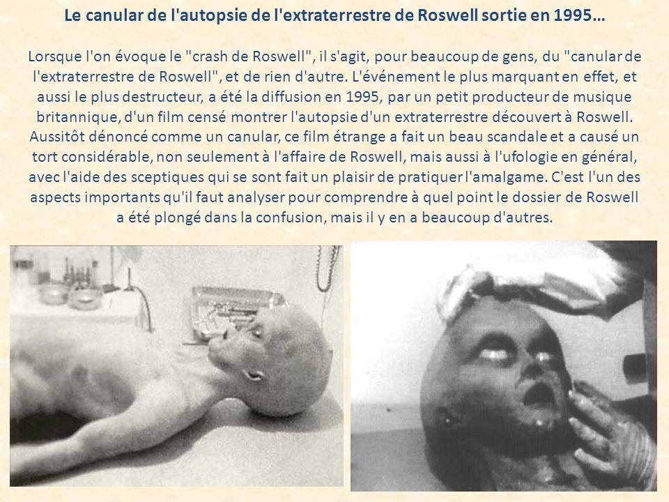 Le canular de l'autopsie de l'extraterrestre de Roswell sortie en 1995… Lorsque l'on évoque le