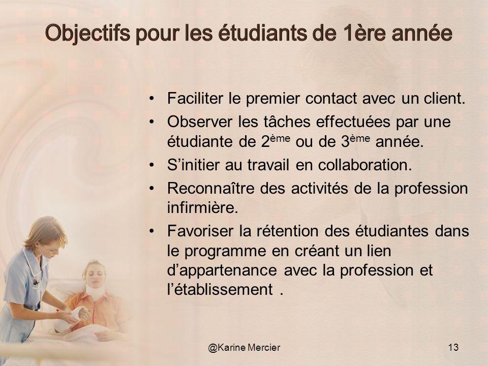 Faciliter le premier contact avec un client. Observer les tâches effectuées par une étudiante de 2 ème ou de 3 ème année. Sinitier au travail en colla