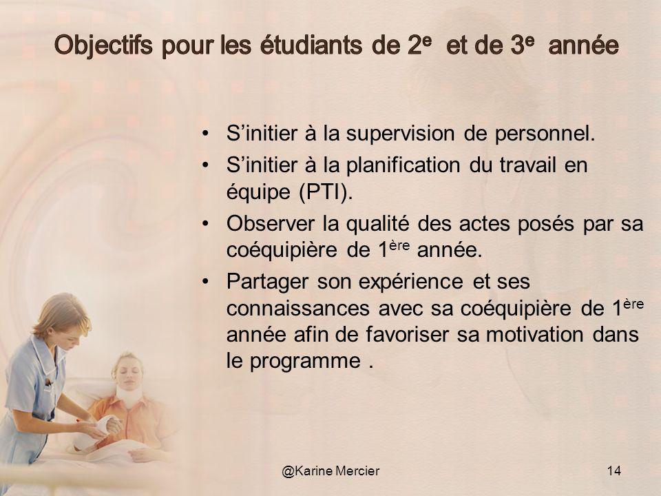Présenter les objectifs du projet au département de soins infirmiers.