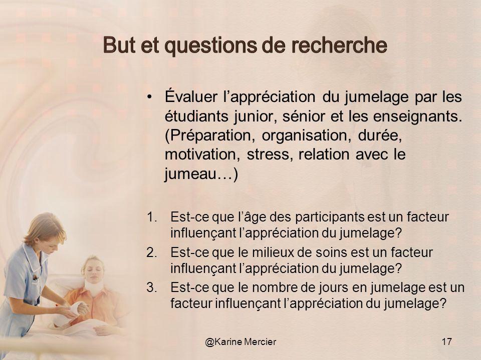 Évaluer lappréciation du jumelage par les étudiants junior, sénior et les enseignants. (Préparation, organisation, durée, motivation, stress, relation