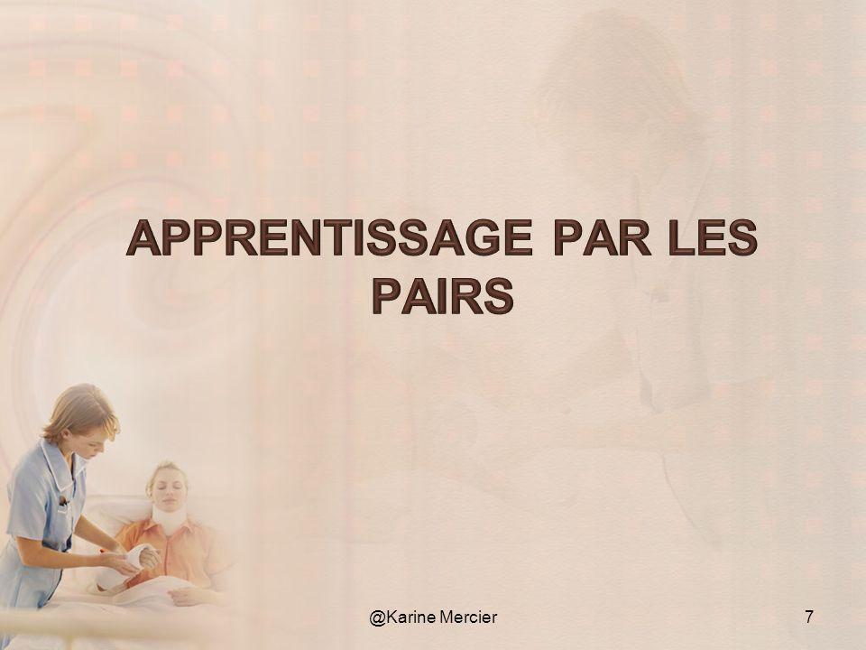 Apprentissage coopératif.Apprendre dans un contexte favorable aux interactions entre pairs.