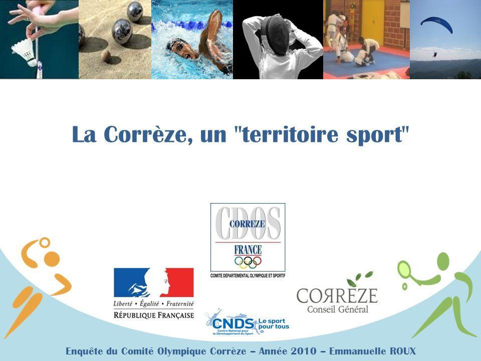 Enquête du Comité Olympique Corrèze – Année 2010 – Emmanuelle ROUX La Corrèze, un