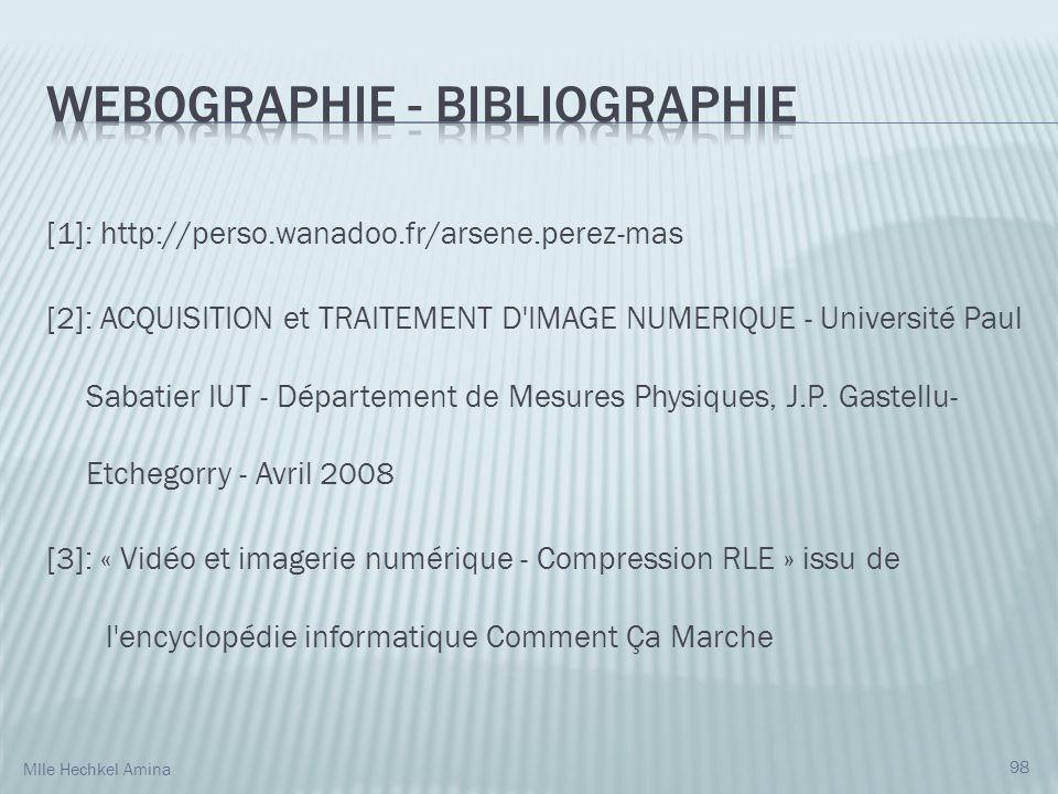 [1]: http://perso.wanadoo.fr/arsene.perez-mas [2]: ACQUISITION et TRAITEMENT D IMAGE NUMERIQUE - Université Paul Sabatier IUT - Département de Mesures Physiques, J.P.