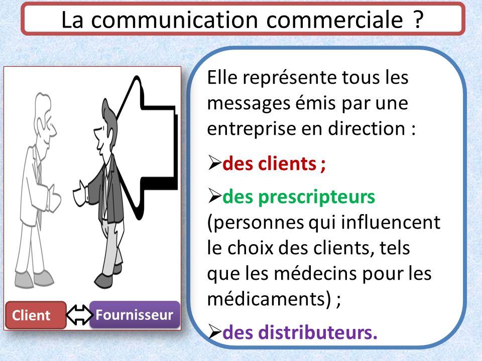 La communication commerciale ? Elle représente tous les messages émis par une entreprise en direction : des clients ; des prescripteurs (personnes qui