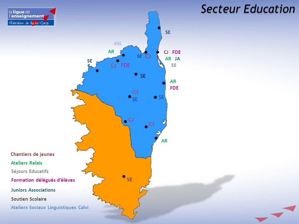 Secteur Education Ateliers Sociaux Linguistiques Calvi Soutien Scolaire Juniors Associations Formation délégués délèves Séjours Educatifs Ateliers Rel