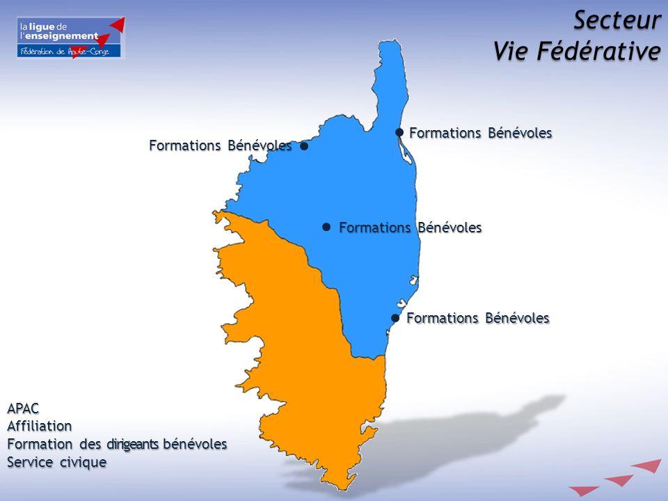 Secteur Vie Fédérative Formations Bénévoles APACAffiliation Formation des dirigeants bénévoles Service civique