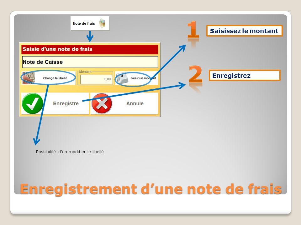 Rectification dune erreur de mode de règlement « Remise à zéro » Sélectionnez la ligne du bon mode de règlement Flèche Validation