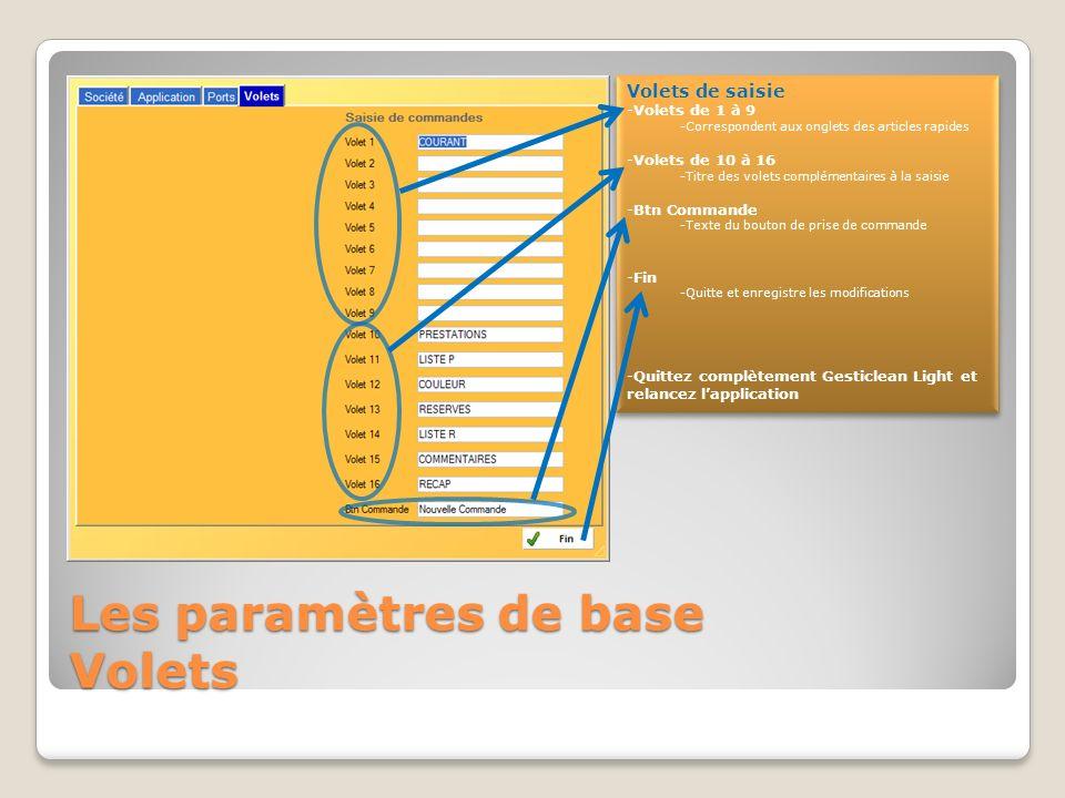 Les paramètres de base Ports et périphériques Ports périphériques -Afficheur -Indiquez le numéro et les paramètres du port com sur lequel est connecté lafficheur.