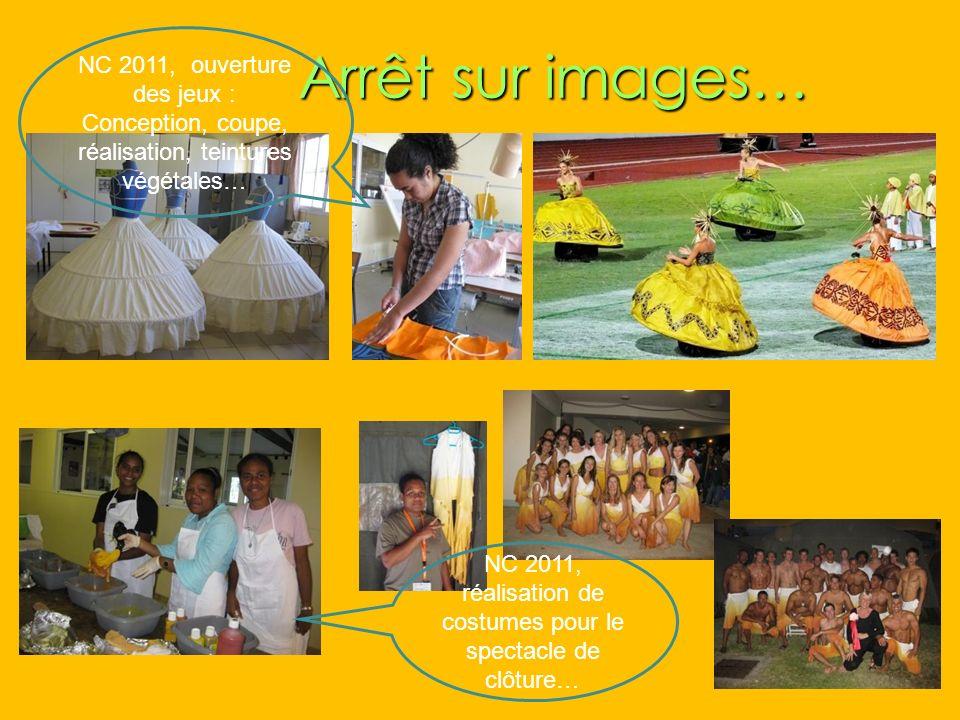 Arrêt sur images… Arrêt sur images… NC 2011, ouverture des jeux : Conception, coupe, réalisation, teintures végétales… NC 2011, réalisation de costume