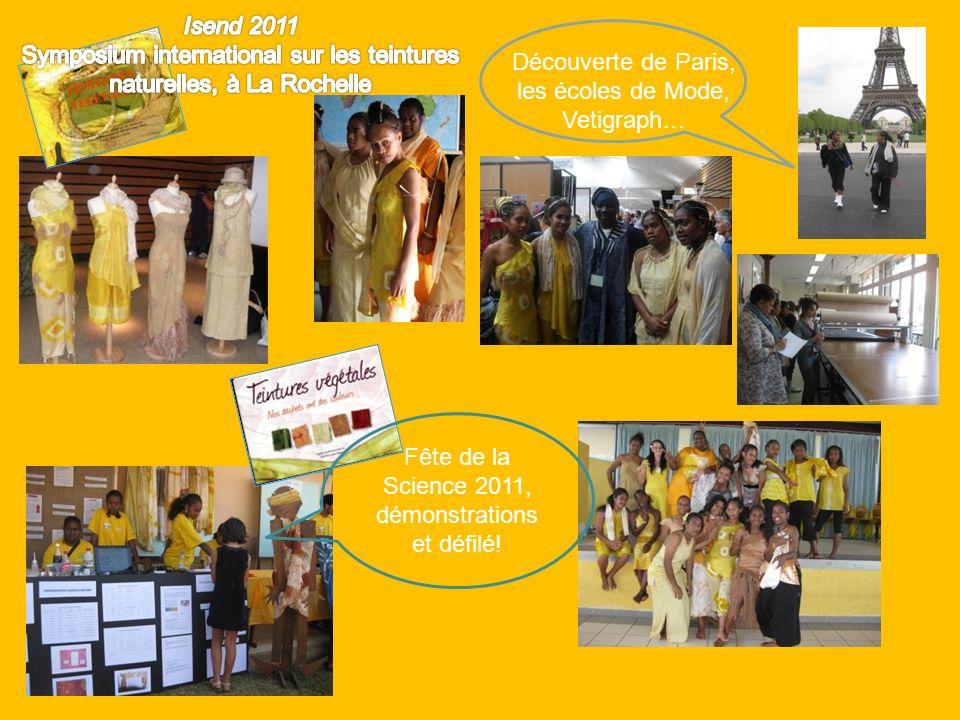 Découverte de Paris, les écoles de Mode, Vetigraph… Fête de la Science 2011, démonstrations et défilé!