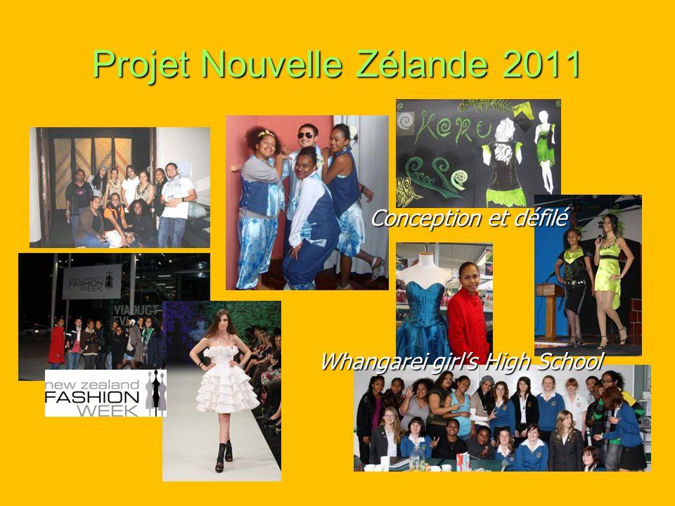 Projet Nouvelle Zélande 2011 Whangarei girls High School Conception et défilé