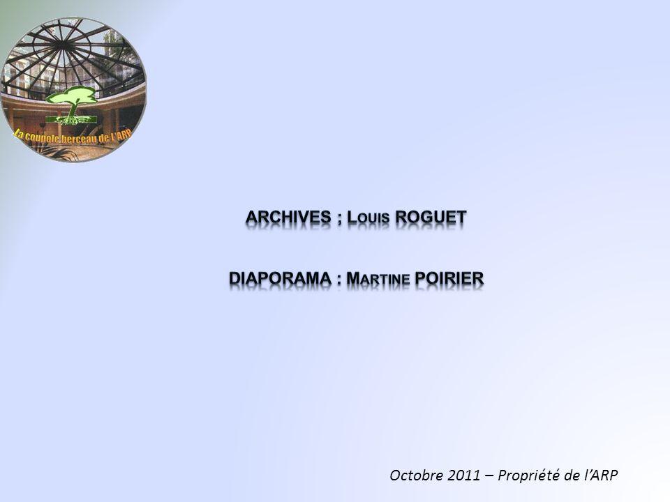 Octobre 2011 – Propriété de lARP