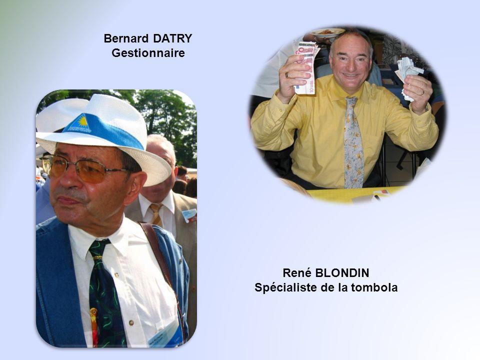 Bernard DATRY Gestionnaire René BLONDIN Spécialiste de la tombola