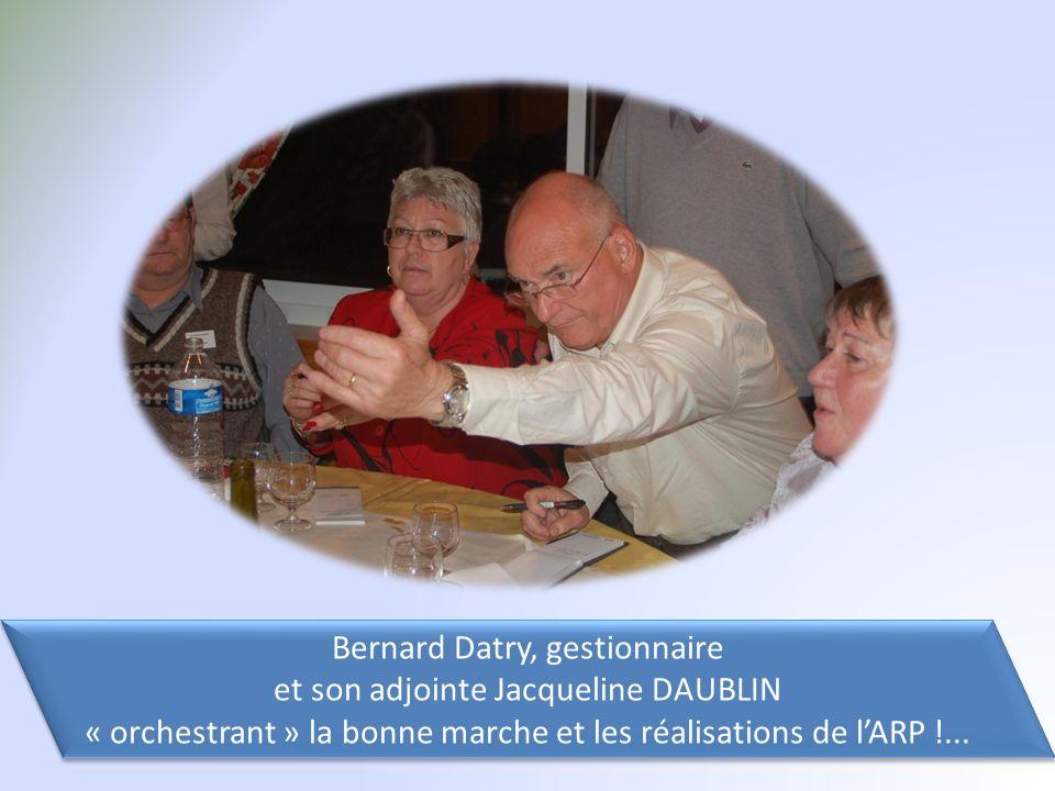 Bernard Datry, gestionnaire et son adjointe Jacqueline DAUBLIN « orchestrant » la bonne marche et les réalisations de lARP !...