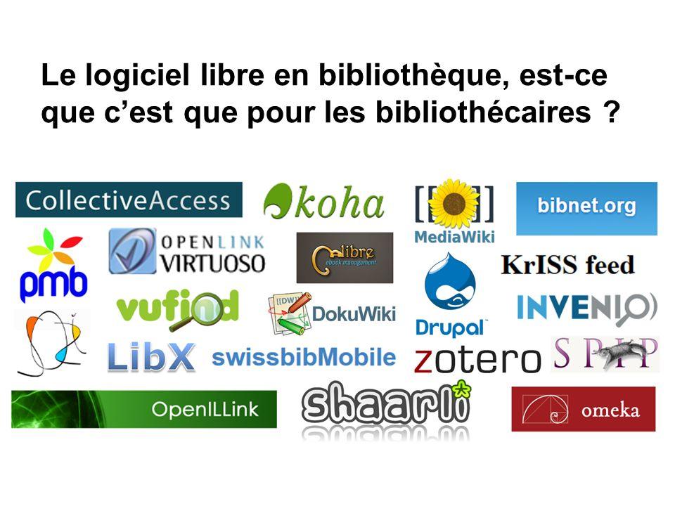 Le logiciel libre en bibliothèque, est-ce que cest que pour les bibliothécaires ?