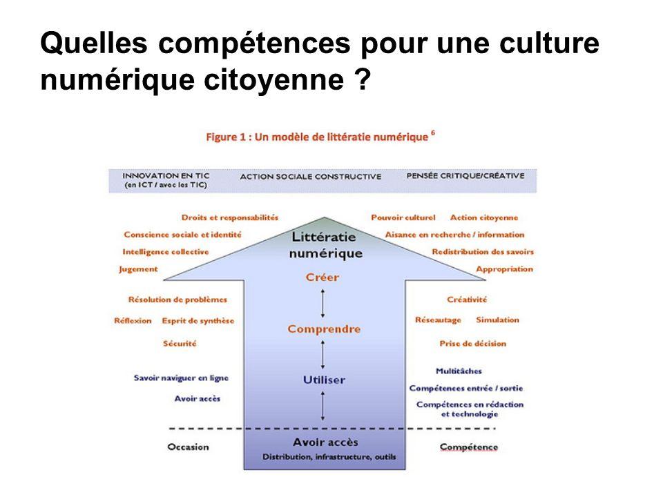 Quelles compétences pour une culture numérique citoyenne ?