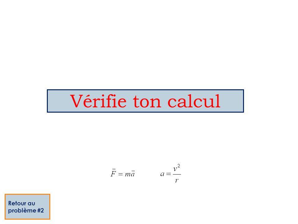 Vérifie ton calcul Retour au problème #2