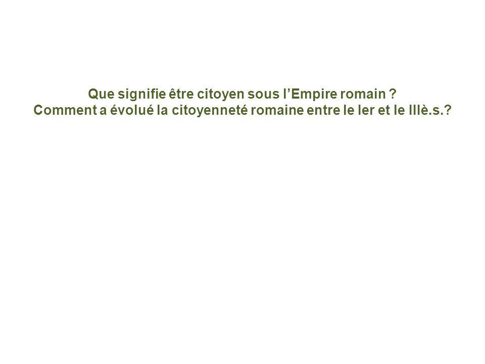 Que signifie être citoyen sous lEmpire romain .