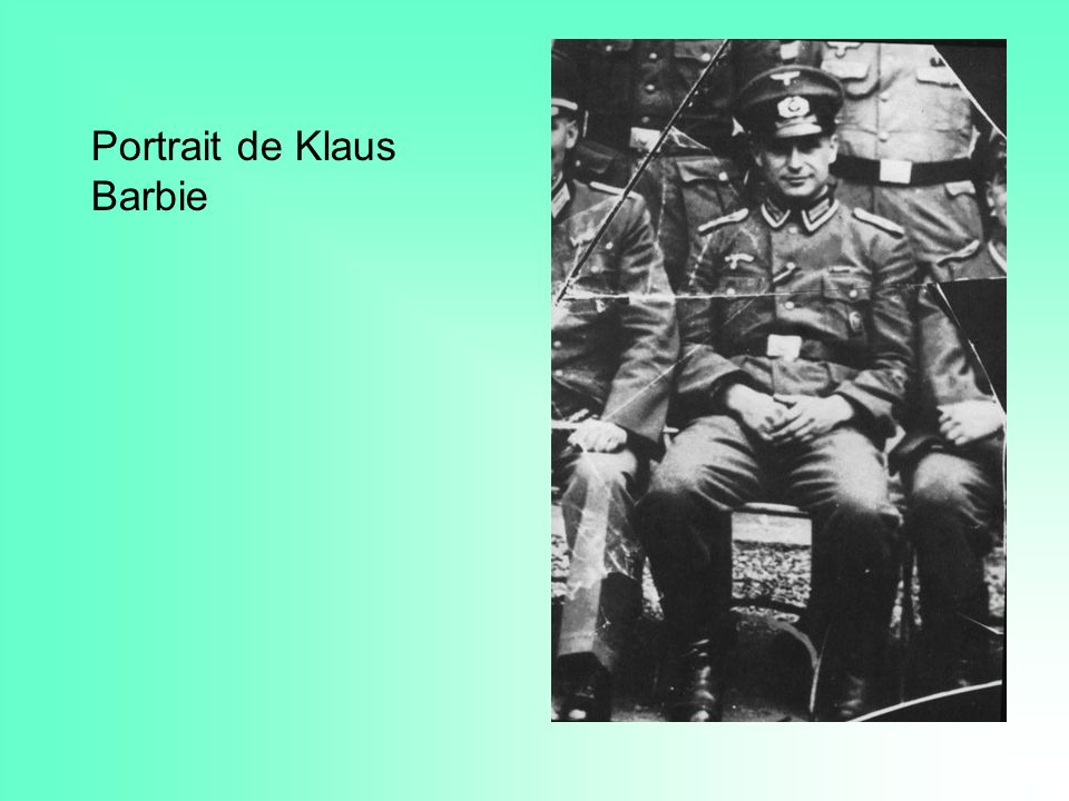 Portrait de Klaus Barbie
