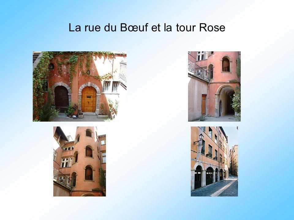 La rue du Bœuf et la tour Rose