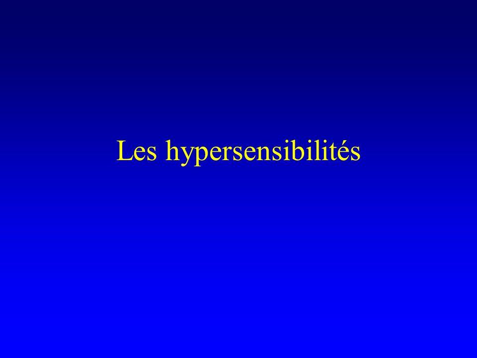 Les hypersensibilités
