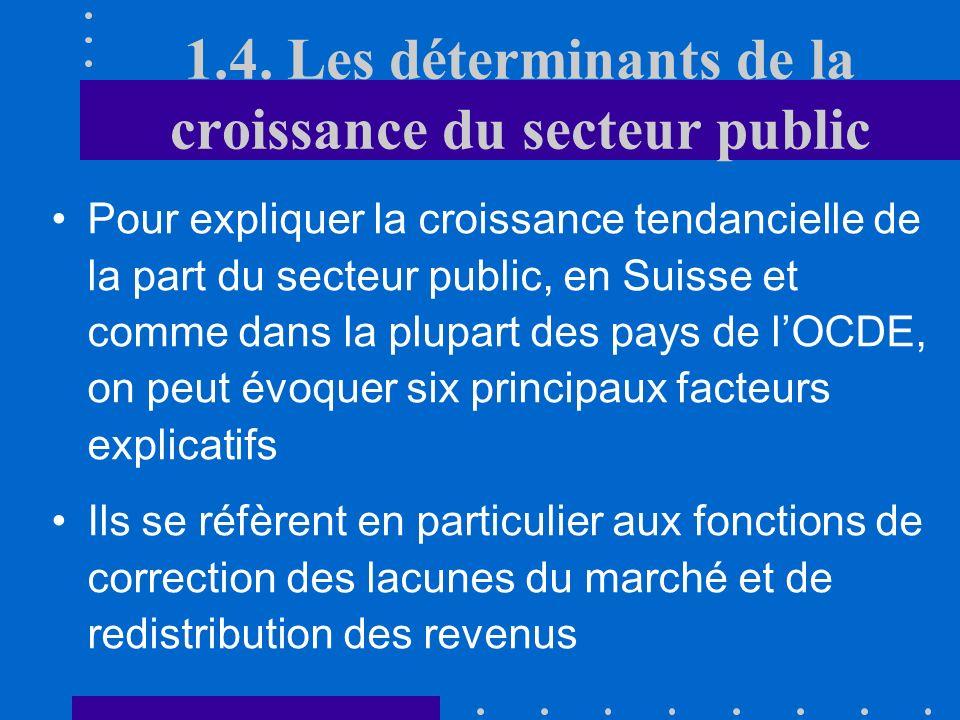 1.3. Mesures de la taille du secteur public Pour mesurer limportance de lintervention publique dans une économie de marché, on peut utiliser également