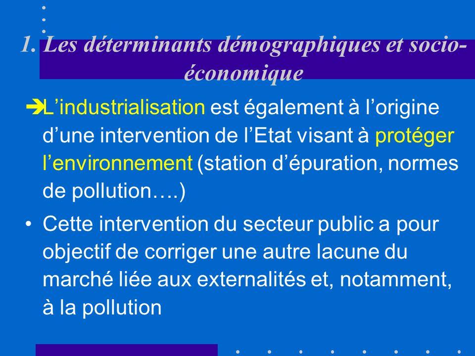 1. Les déterminants démographiques et socio- économique processus durbanisationcroissance démographique Le processus durbanisation et la croissance dé