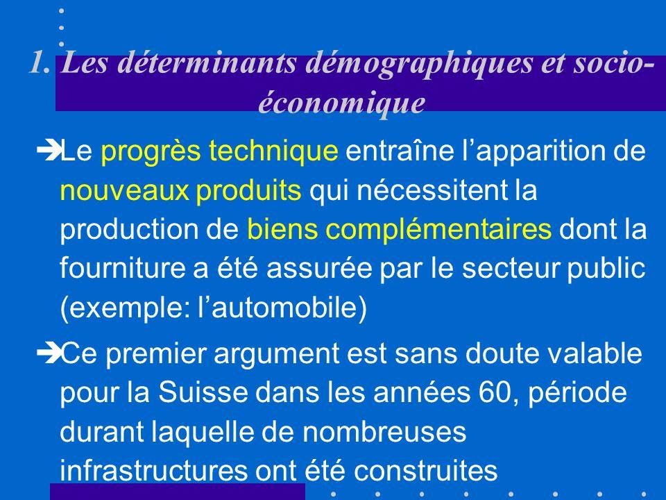1. Les déterminants démographiques et socio- économique Lindustrialisation est également à lorigine dune intervention de lEtat visant à protéger lenvi