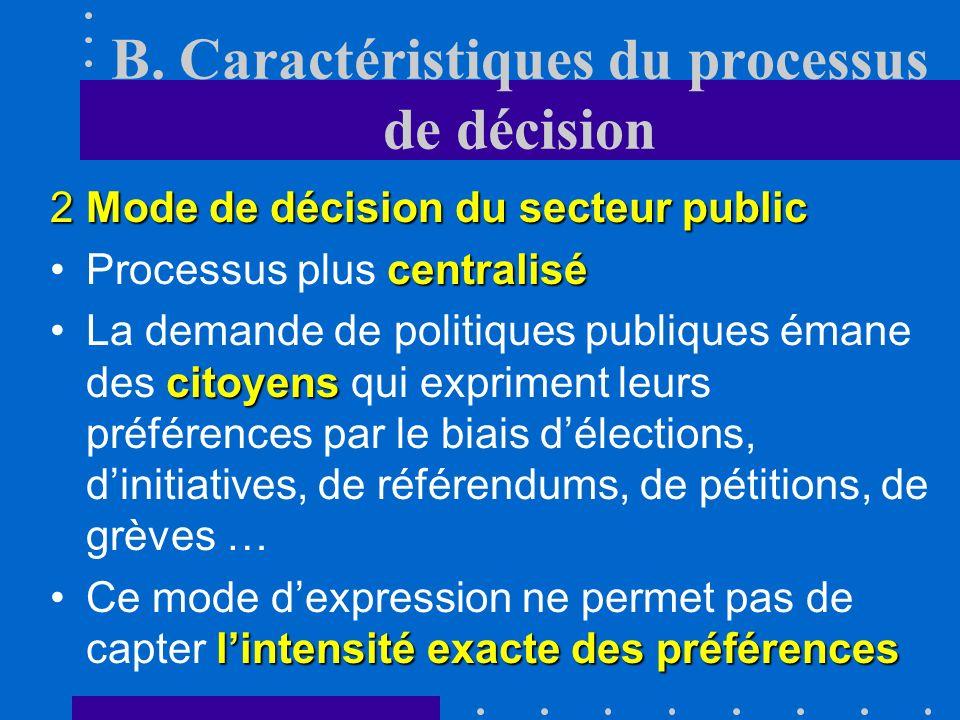 B. Caractéristiques du processus de décision 1Mode de décision marchand Pour prendre leurs décisions, les consommateurs cherchent à maximiser leur sat