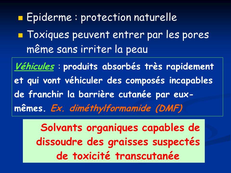 Risques liés aux effets toxiques Beaucoup de solvants présentent des dangers pour la santé.
