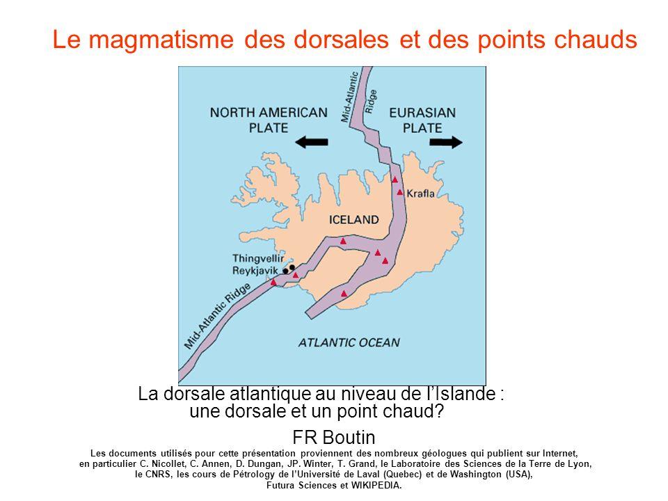 La dorsale atlantique au niveau de lIslande : une dorsale et un point chaud? Le magmatisme des dorsales et des points chauds FR Boutin Les documents u