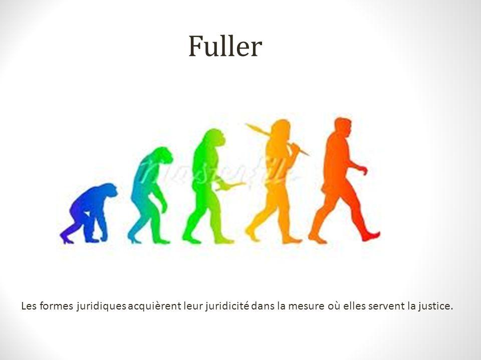 Fuller Les formes juridiques acquièrent leur juridicité dans la mesure où elles servent la justice.