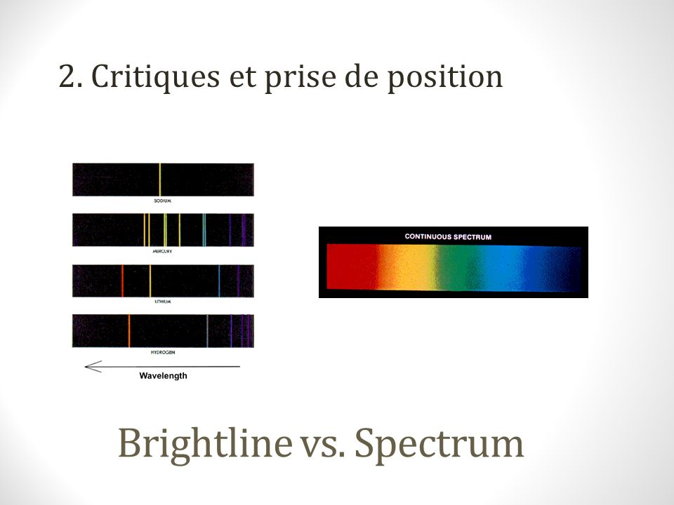 Brightline vs. Spectrum 2. Critiques et prise de position