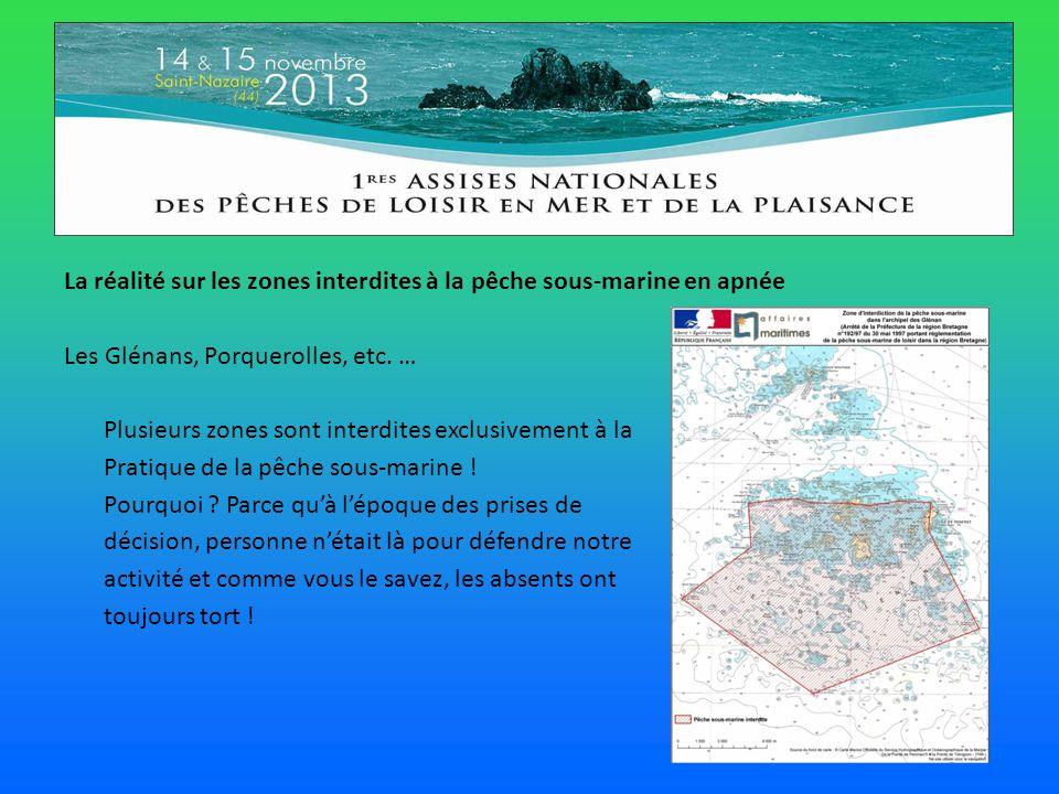 La réalité sur les zones interdites à la pêche sous-marine en apnée Les Glénans, Porquerolles, etc.