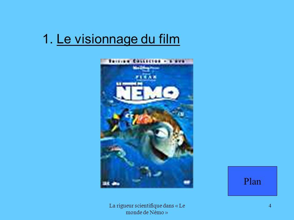 La rigueur scientifique dans « Le monde de Némo » 4 1. Le visionnage du film Plan