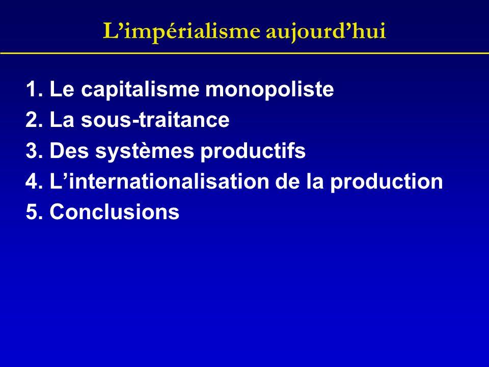 Linternationalisation de la production On voit les avantages ou inconvénients de produire à létranger.