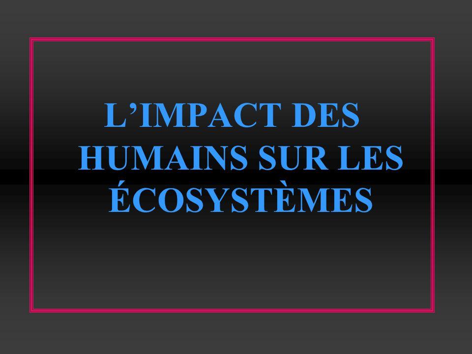 LIMPACT DES HUMAINS SUR LES ÉCOSYSTÈMES