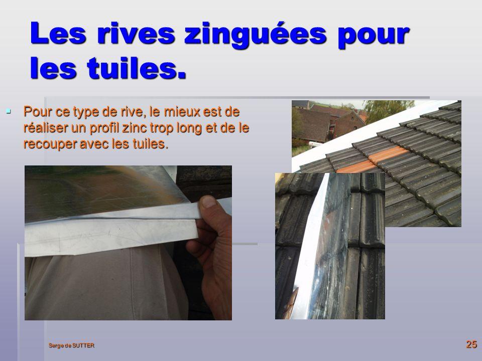 Serge de SUTTER 25 Les rives zinguées pour les tuiles.