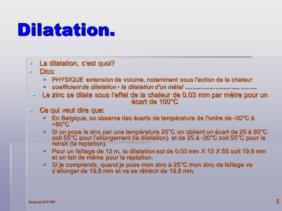 Serge de SUTTER 5 Dilatation.La dilatation, cest quoi.