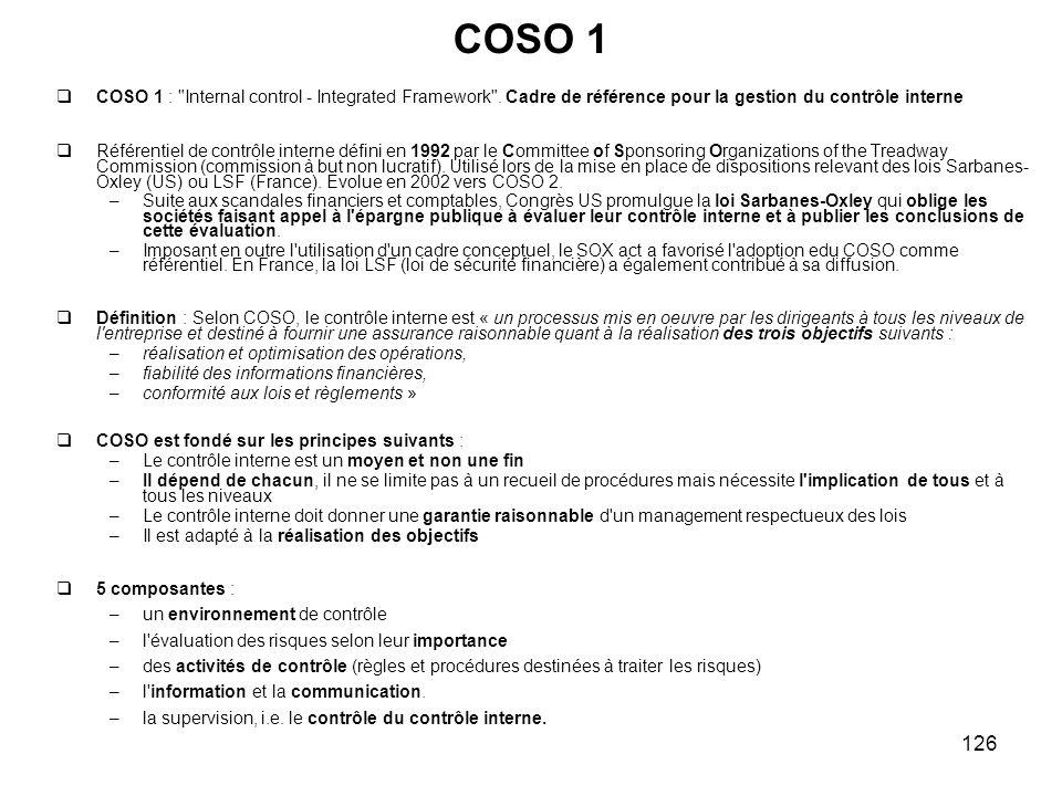 126 COSO 1 COSO 1 :