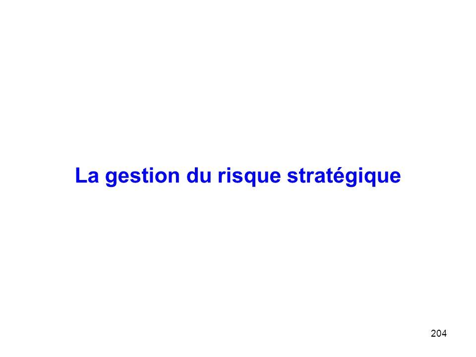 204 La gestion du risque stratégique