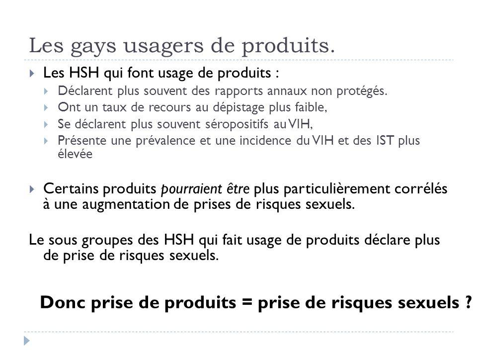 Les gays usagers de produits.