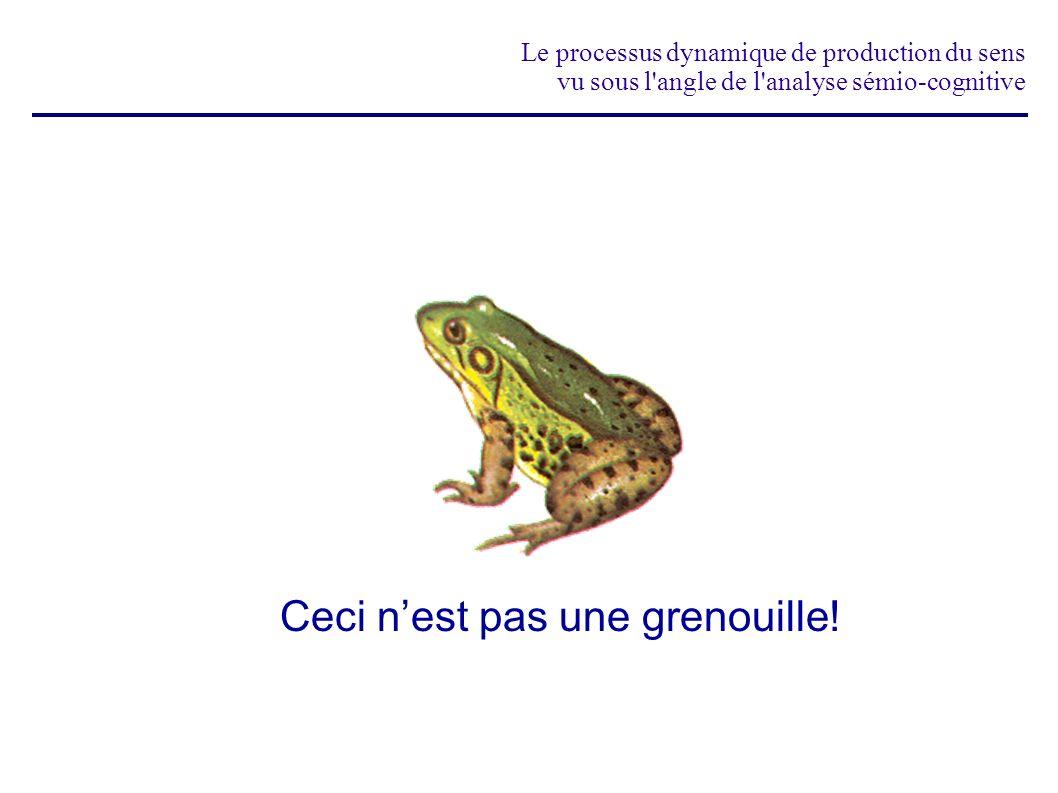 Le processus dynamique de production du sens vu sous l angle de l analyse sémio-cognitive pourtant, nous avons bien une grenouille présente à l esprit!