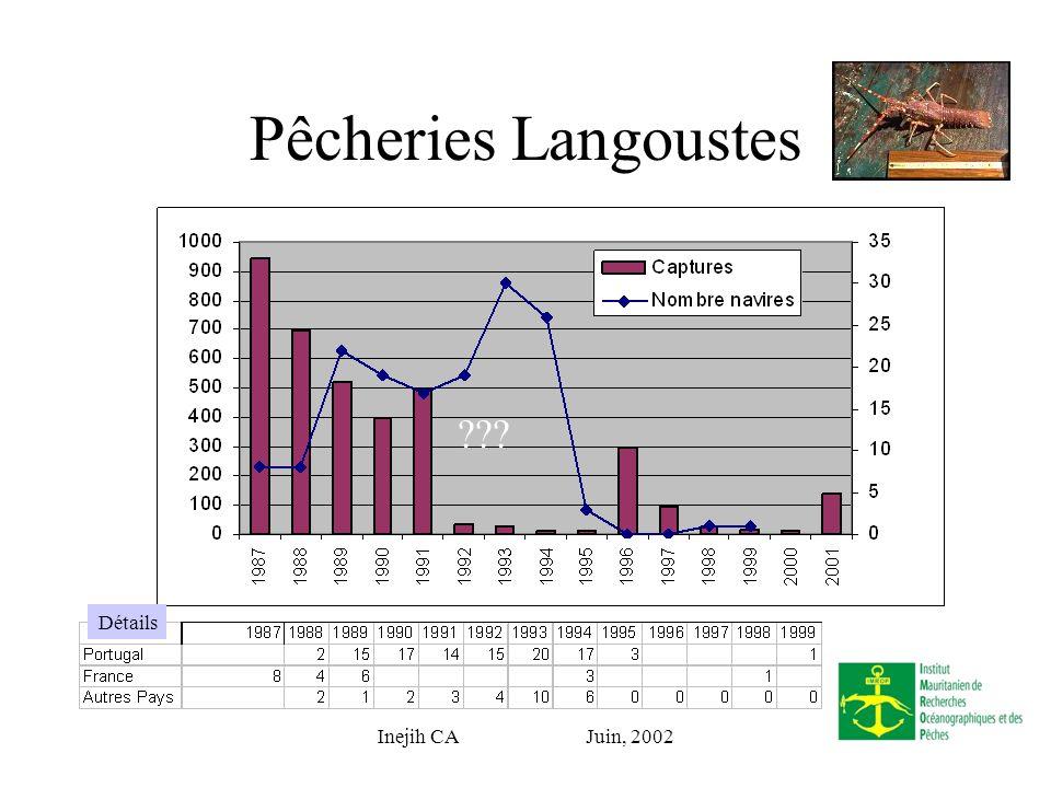 Inejih CA Juin, 2002 Pêcheries Langoustes Détails