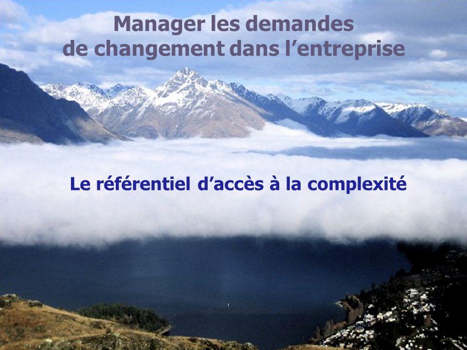 Manager les demandes de changement dans lentreprise Le référentiel daccès à la complexité
